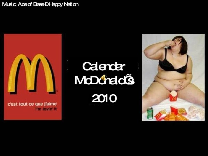 Music: Ace of Base – Happy Nation Calendar McDonald's 20 10