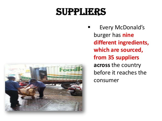 mcdonalds logistics Mcdonald's formed a global ocean freight council made up of suppliers and logistics companies to provide insight into mcdonald's supply chain strategy and help the burger chain optimize its network while sharing best practices among the council members.
