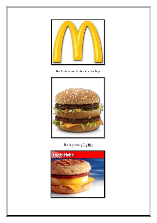 project report on mcdonalds Discover the mcdonald's south africa menu and specials, find your nearest restaurant or take advantage of our speedy mcdelivery service.