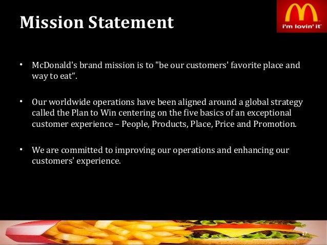 mcdonald s mission statement