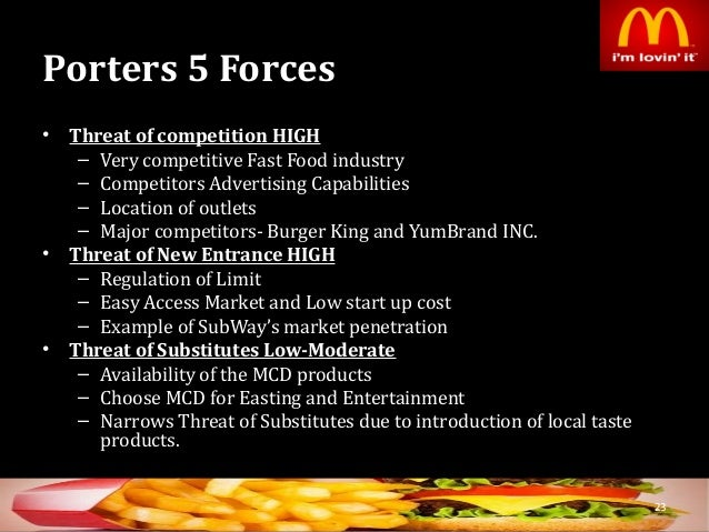 mcdonalds global external forces and trend considerations Global business management: current trends and practices  considered in isolation of internal and external forces this paper engages in a comprehensive.