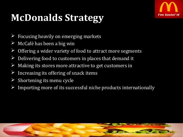 marketing segmentation for mcdonalds Marketing plan mcdonald mcdonald's has successfully used a differentiated market segmentation strategy by targeting the family unit and particularly children.