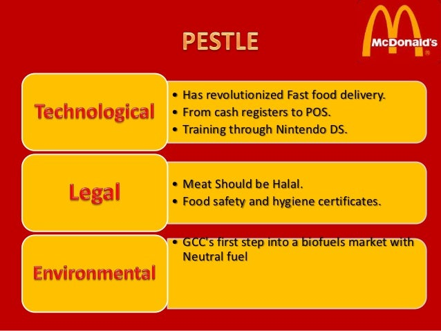 mcdonald pest analysis Free essay: mkt 204 principle of marketing 2 individual assignment fast food industry swot analysis name: ting ze kai id: i11008551 section: 5k1 lecturer: mr.