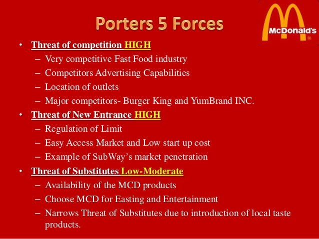 porter 5 forces of kfc Foreign quick service restaurant chains such as mcdonalds and kfc have been   porter's five forces porter proposed the five forces model in order to.
