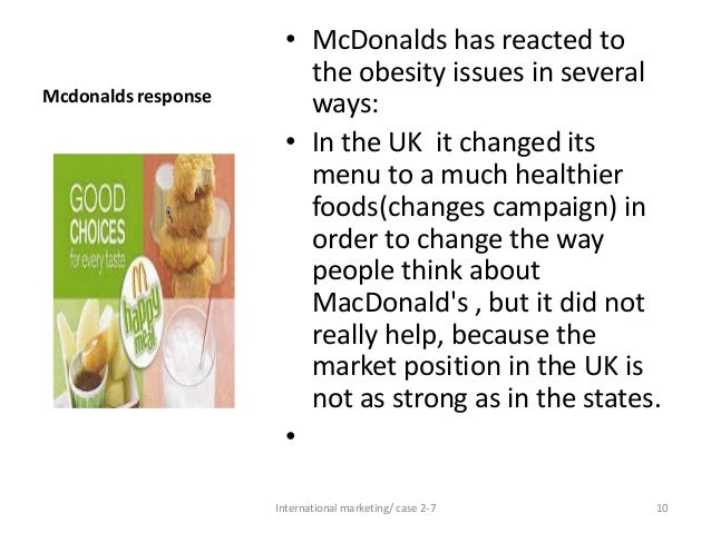 Essay on mcdonalds and obesity