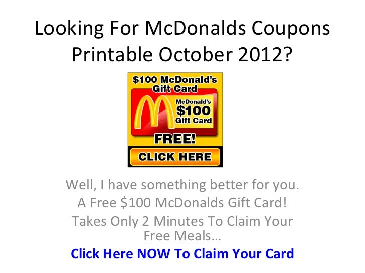 mcdonalds coupons printable october 2012