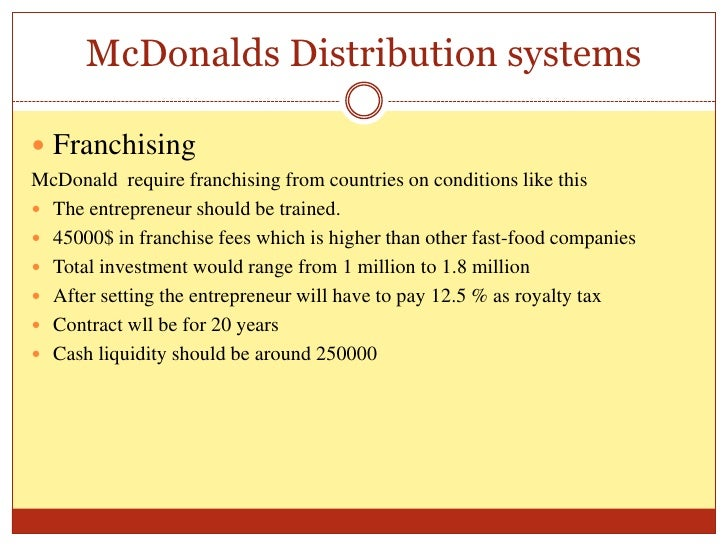 distribution of macdonald essay Free essays analysis of mcdonald's operation of processes that are used in manufacturing and distribution of goods and control in mcdonald's essay.
