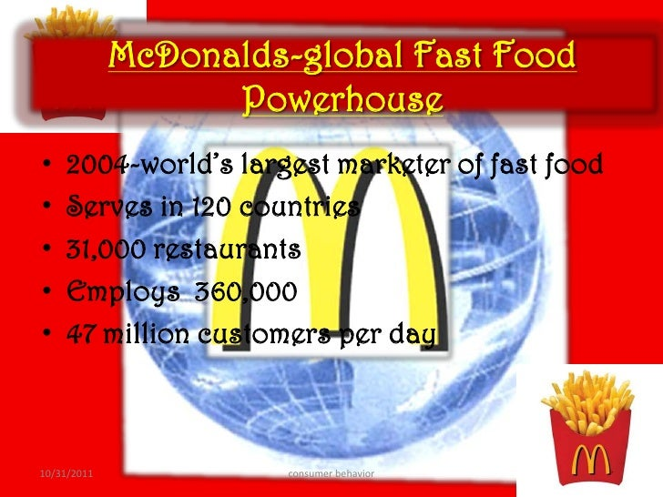 consumer perception towards global fast food brands A study on customer preference and satisfaction towards  family/popular and convenience/ fast-food restaurants  restaurant studies have focused on consumers .