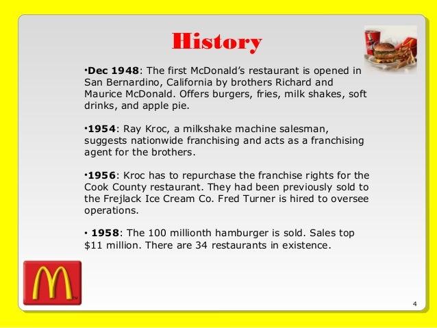 mcdonalds history ppt