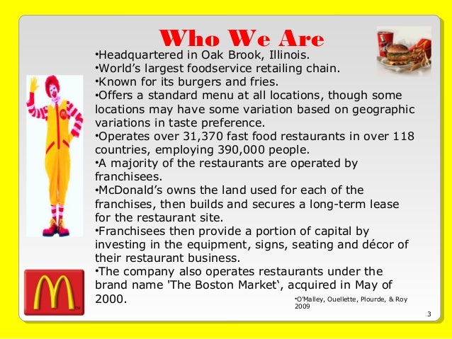 mcdonald s eps ebit analysis Important note: at mcdonald's, we take great care to serve quality, great-tasting menu items to our customers each and every time they visit our restaurants.