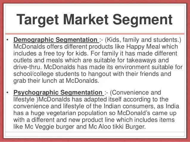 Market Segmentation and Targeting : McCafé