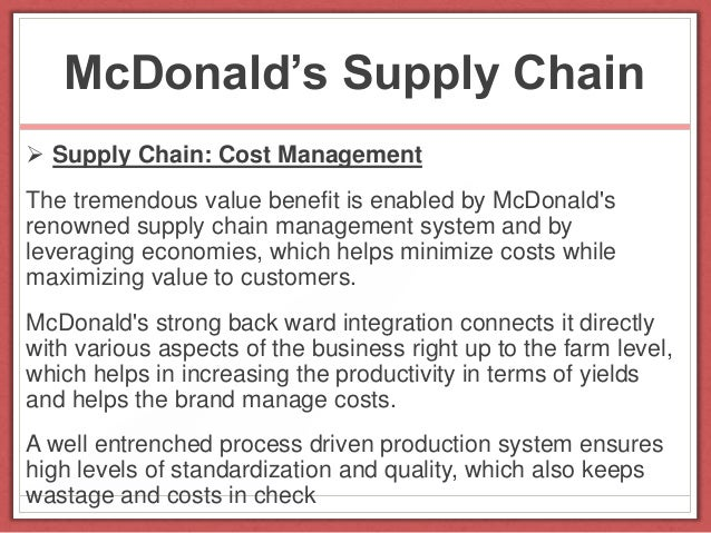 mcdonald s supply chain