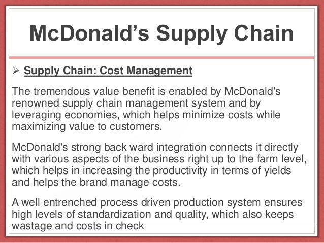 Mcdonalds india value chain