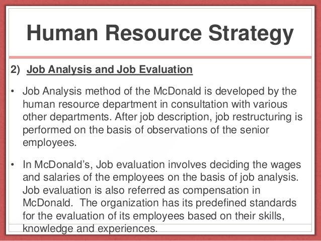 McDonald's Crew Member Job Analysis Essay