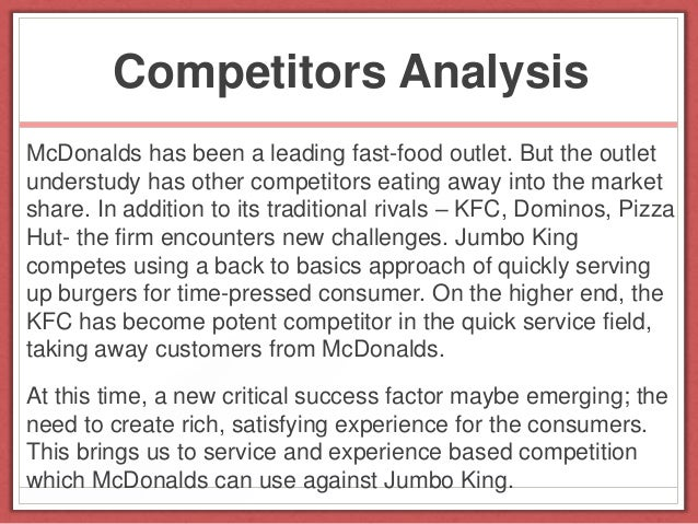 analysis of mcdonalds performance Mcdonald's gap analysis not matching performance to 95 % customer did not had any bad experience in mcdonald¶s 1 customer had a bad experience and that was.
