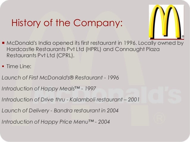 the history of mcdonalds corporation We made a timeline below to highlight some of the most crucial moments in the history of mcdonald's,  dylan roach/business insider dylan roach contributed to.