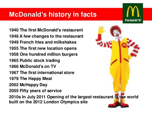 mcdonalds history essay Case study 3 mcdonalds and obesity essay case study 4 mcdonalds 1) how should mac respond when ads promoting healthy lifestyle featuring ronald mcdonald are equated with joe camel and cig ads.