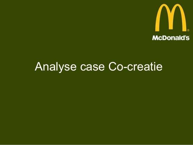 Analyse case Co-creatie