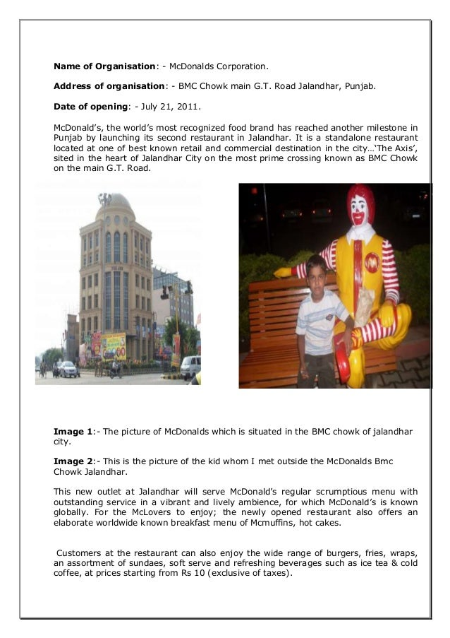 mcdonalds recruiting selection essay Posts about mcdonald's recruitment and selection process written by wethriveindia.
