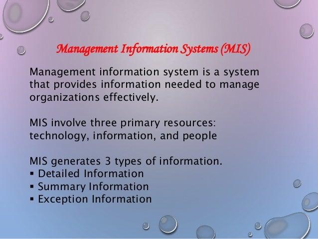 management information system of mcdonalds