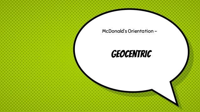 mcdonalds production orientation