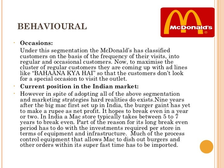 mcdonalds sells hamburgers in india case study Mcdonald case study   the mcdonald brothers realized that hamburgers were their most profitable menu item, and changed their business to serve a limited menu about mcdonald •mcdonald's is a large corporation in the  –mcdonald's in india has specific menu items –for the vegetarian market.