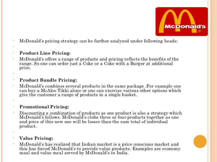 mcdonald on penetration pricing As commodity costs continue to escalate, the burger giant will take price bump.
