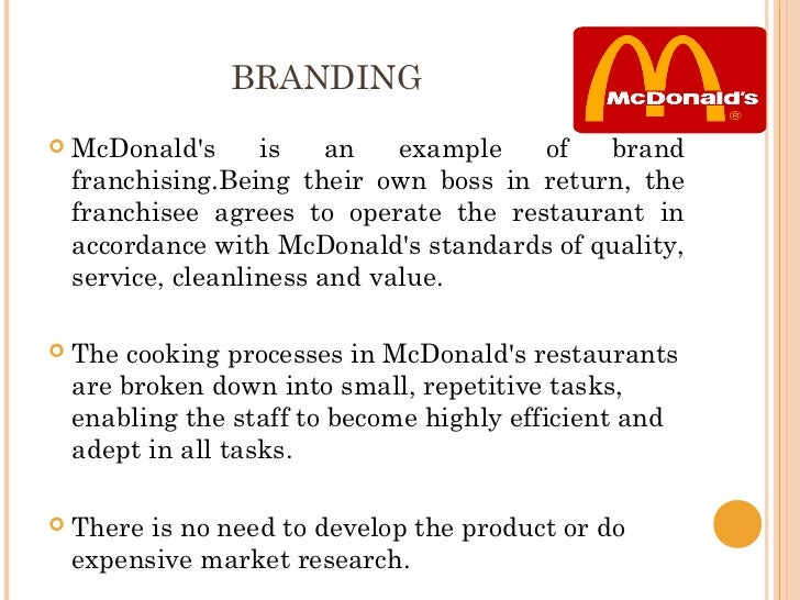 mc donalds presentation Mcdonald's swot analysis – recommendations this swot analysis shows that mcdonald's can improve its business viability through continued global expansion, especially in high-growth markets also, the company can reduce risks by developing new products or entering new industries related to the fast food restaurant industry.