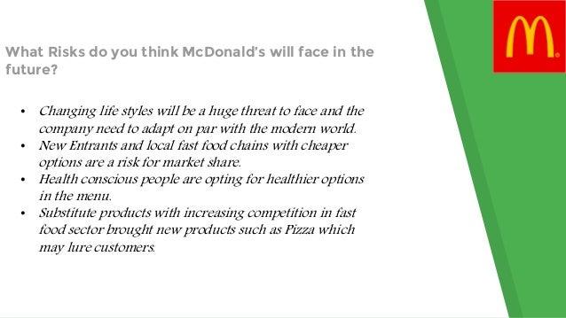 mcdonalds business risks