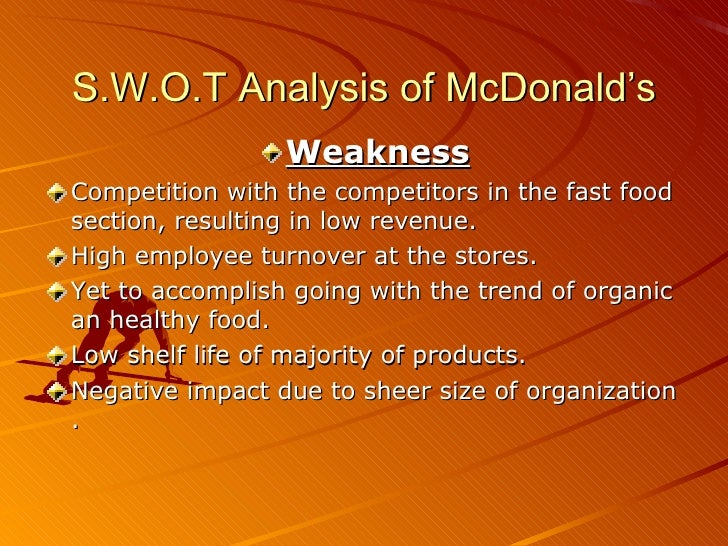 vrio analysis on mcdonalds Burger king's swot analysis is shown in this case study of the firm's strengths, weaknesses, opportunities & threats, internal & external strategic factors.
