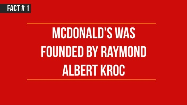 17 facts about McDonald's Slide 2