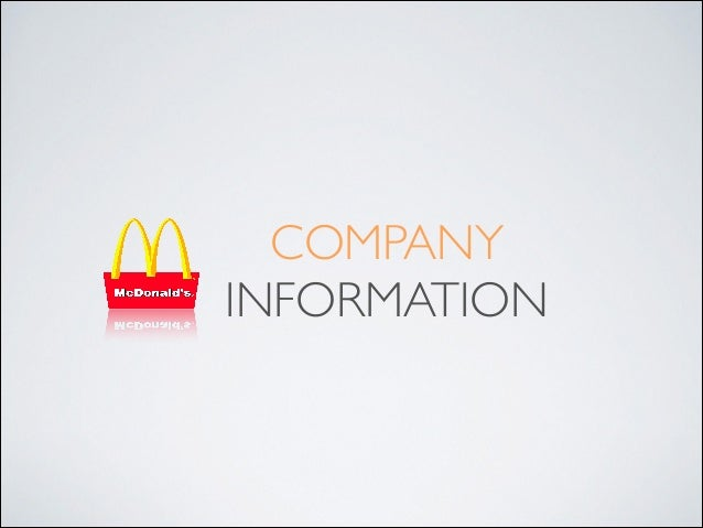financial analysis of mcdonalds company Financial statements: mcd companies often present their financial results in a fundamental analysis save time on research by getting an.