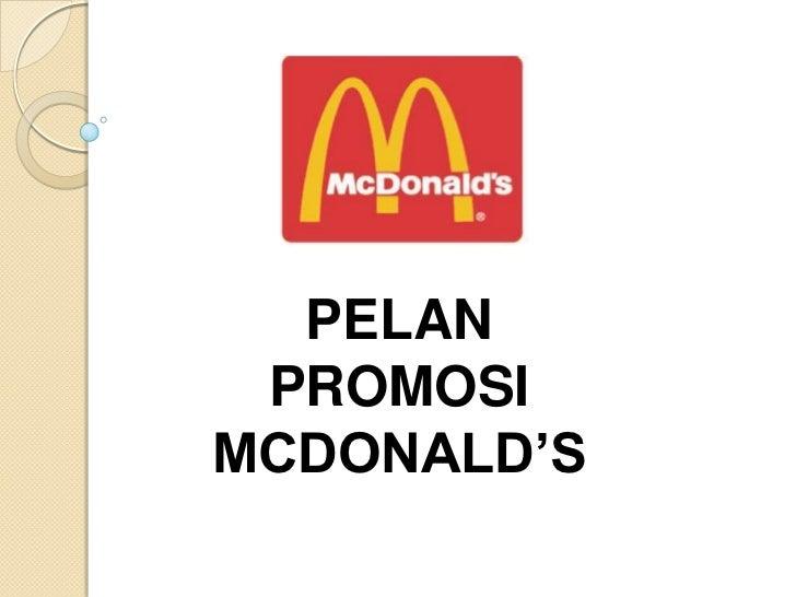 PELAN PROMOSIMCDONALD'S
