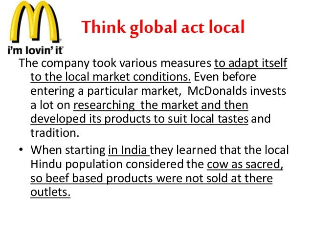mcdonald think gobally act locally