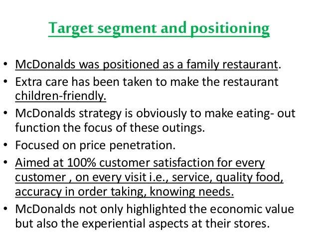 McDonalds Marketing Mix (4Ps) Strategy