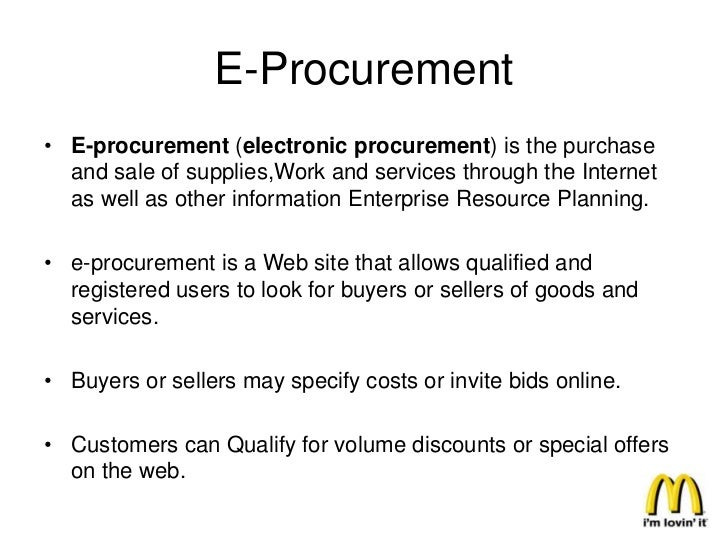 • Aside from being faster and more convenient for  franchisees, the procurement site also allow business  owners to buy su...