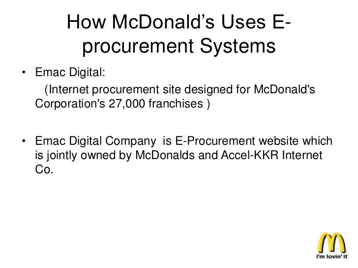 Benefits For the Suppliers• McDonald's works with two types of suppliers.                  Major Suppliers                ...