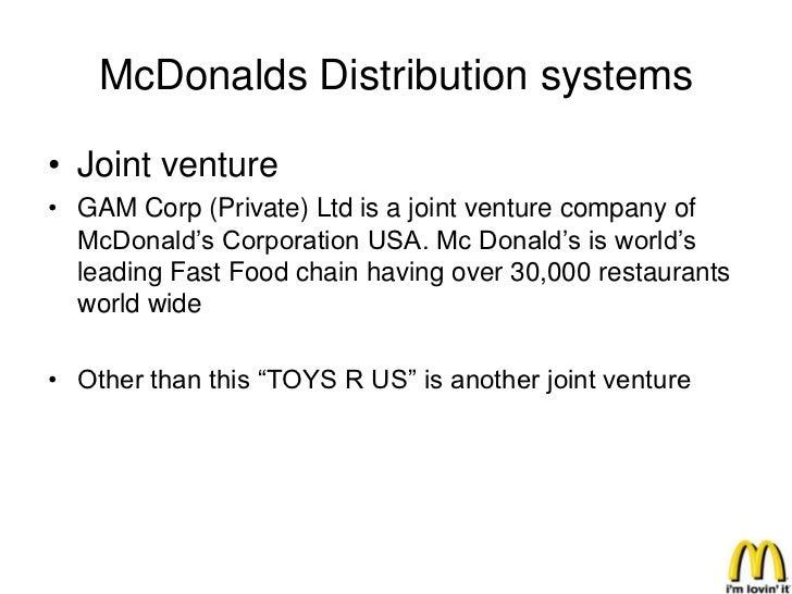 Supply chain management of McDonalds