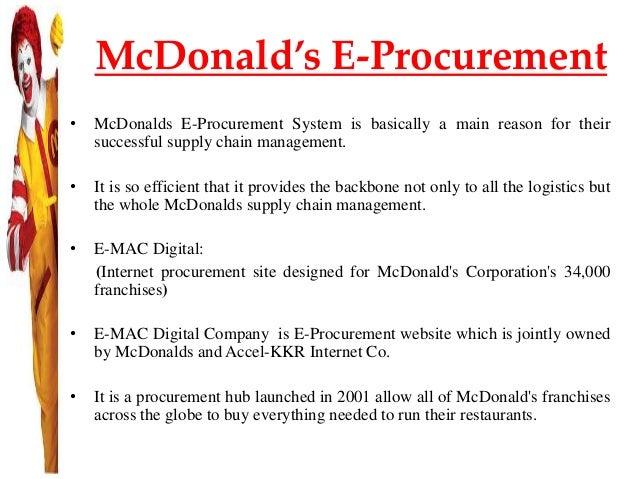 mcdonald s supply chain management