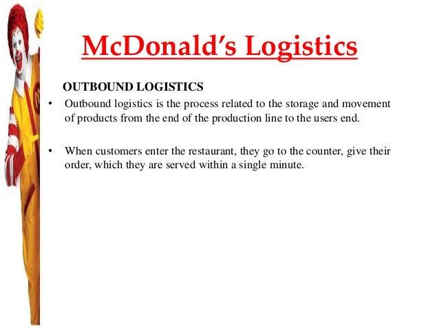 mcdonalds outbound logistics