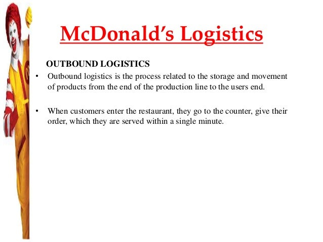 mcdonalds distribution strategy
