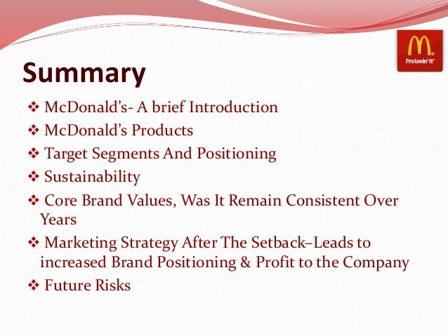 mcdonalds case summary Mcdonald's obtained registration of its trade marks in south africa in 1968, 1974,  1979,  examples of such cases are alain bernardin et compagnie v pavilion.