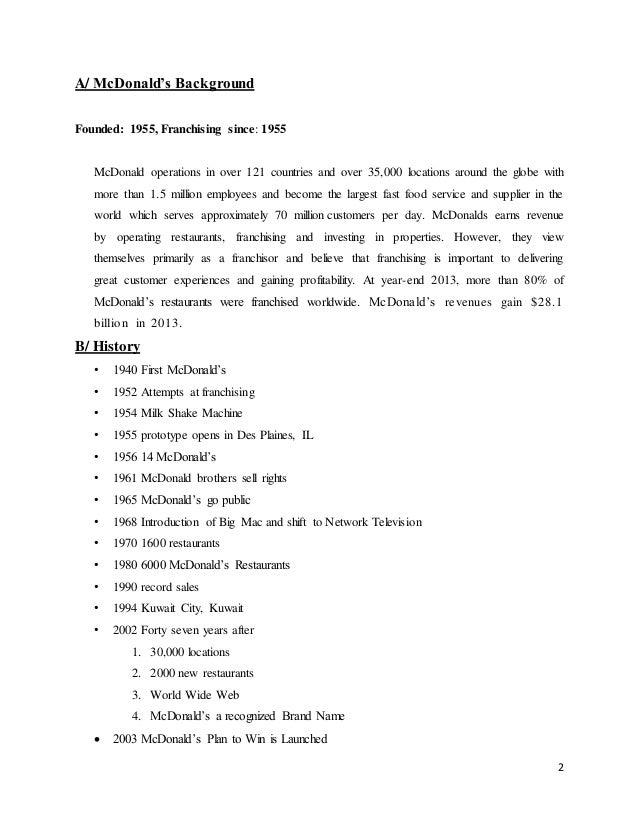 McDonald's study case complete - Tran Huu Minh Quan - 11BSM4