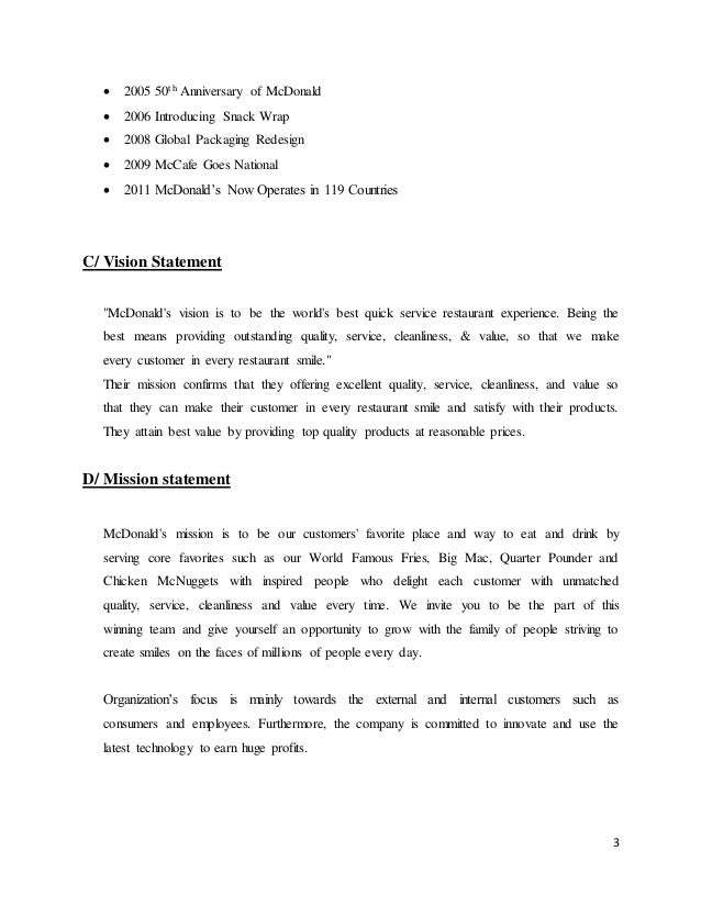 Mcdonalds Study Case Complete Tran Huu Minh Quan 11bsm4