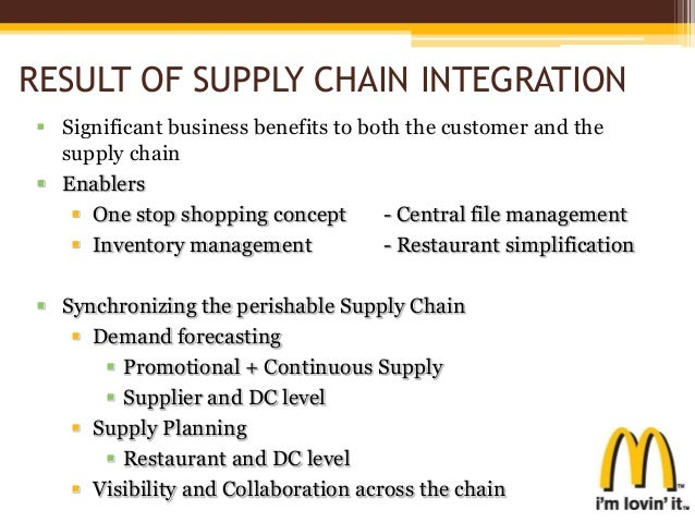mcd supply chain Mcdonald's was recently forced to appoint a new ceo, and although there were many factors at play behind the decision to transition leadership, poor supply.