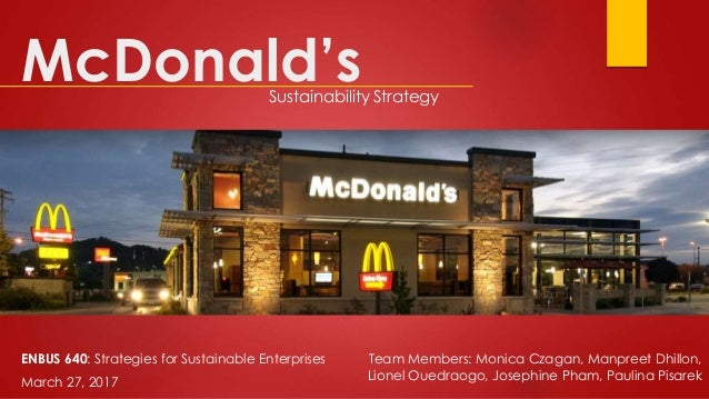 mcdonalds iso 14001 certification