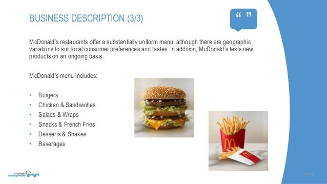 analysis of mcdonald A market analysis of the mcdonalds corporation print  the following is a five year analysis of the number of mcdonald's uk retail outlets and their pre.