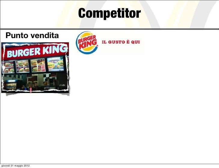 Competitor   Punto venditagiovedì 31 maggio 2012