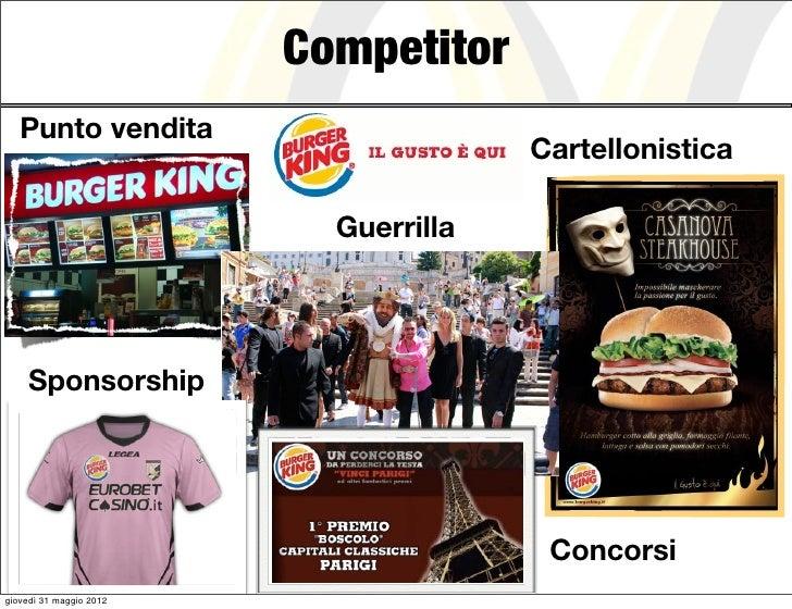Competitor   Punto vendita                                       Cartellonistica                           Guerrilla    Sp...