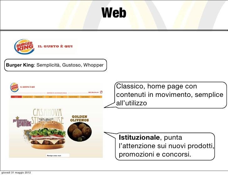 Web   Burger King: Semplicità, Gustoso, Whopper                                               Classico, home page con     ...